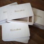 Holzboxen für Hochzeitsfotos