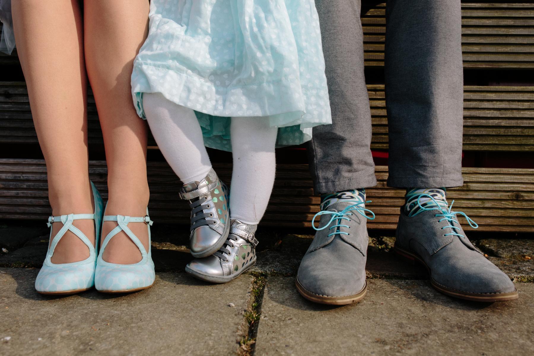 Schuhe des Brautpaars